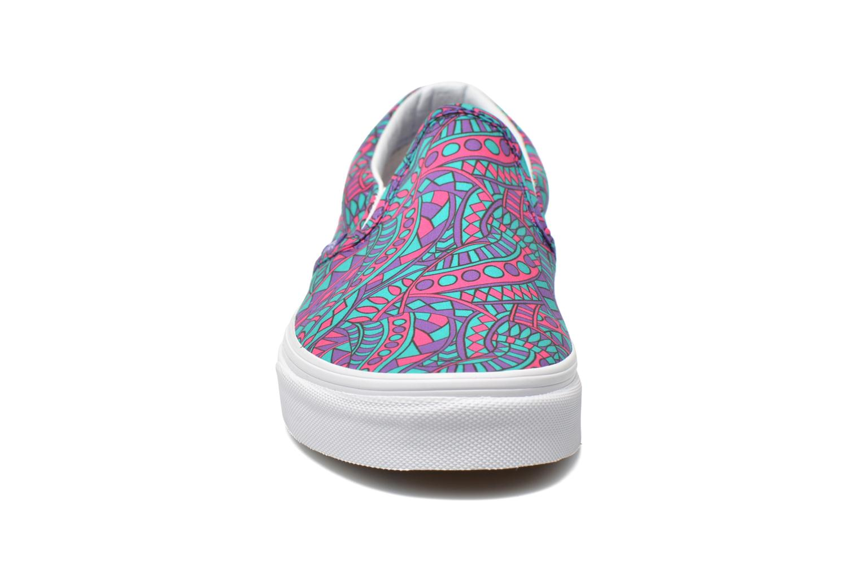 Sneaker Vans Classic Slip-On W mehrfarbig schuhe getragen