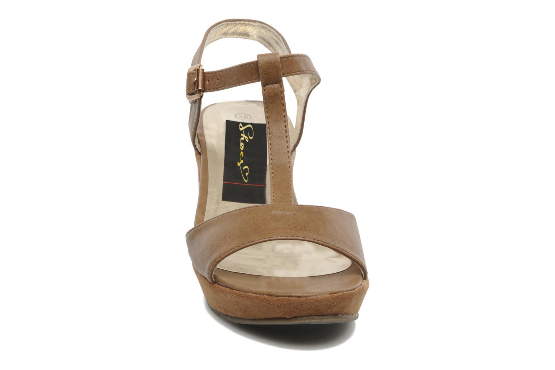 Sandales et nu-pieds I Love Shoes Thajante Marron vue portées chaussures