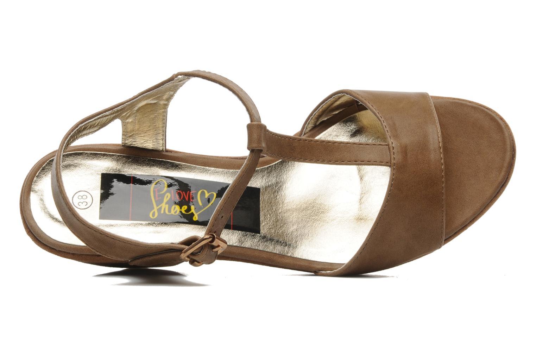Sandales et nu-pieds I Love Shoes Thajante Marron vue gauche