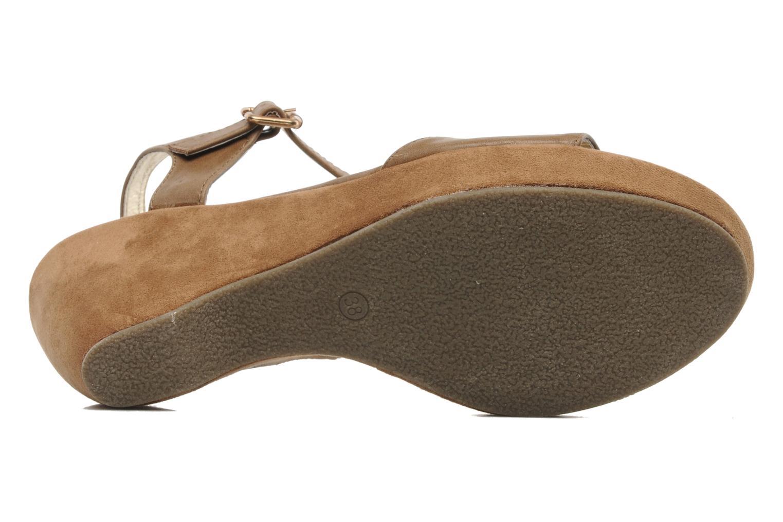 Sandales et nu-pieds I Love Shoes Thajante Marron vue haut