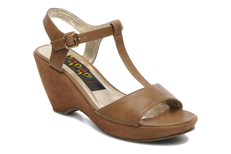 Sandales et nu-pieds I Love Shoes Thajante Marron vue détail/paire