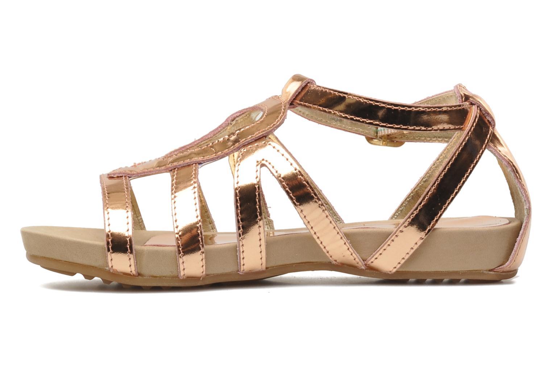 Sandales et nu-pieds Unisa MATRIX MI Or et bronze vue face
