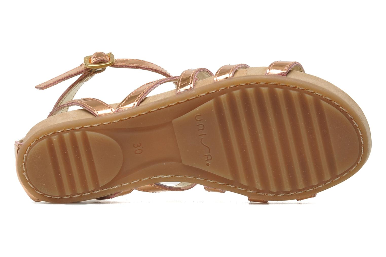 Sandales et nu-pieds Unisa MATRIX MI Or et bronze vue haut