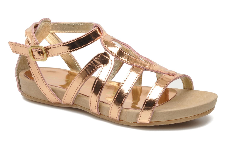 Sandales et nu-pieds Unisa MATRIX MI Or et bronze vue détail/paire