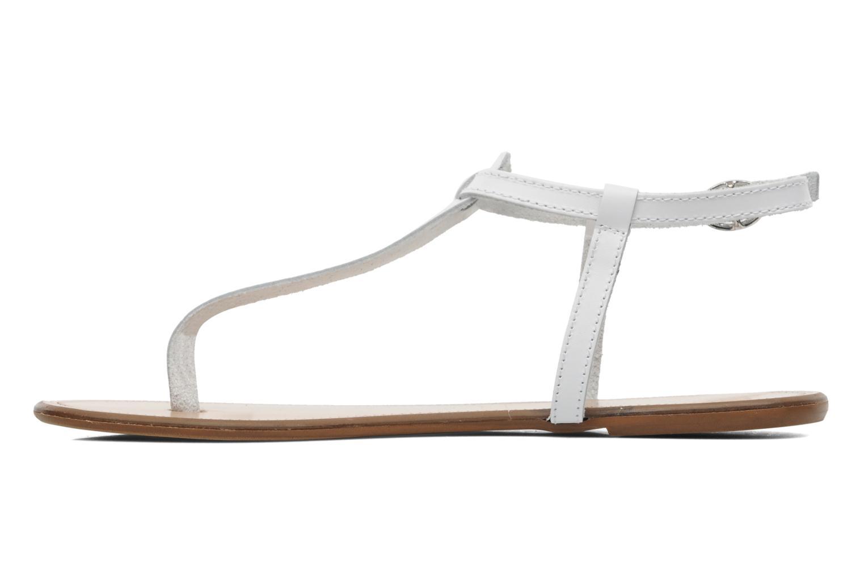 Sandalen Georgia Rose Lufluo cuir weiß ansicht von vorne