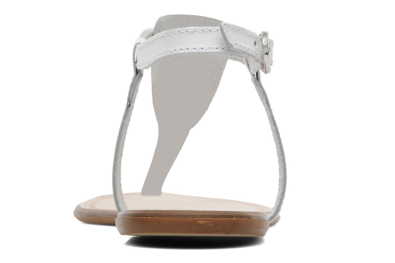 Sandalen Georgia Rose Lufluo cuir weiß ansicht von rechts