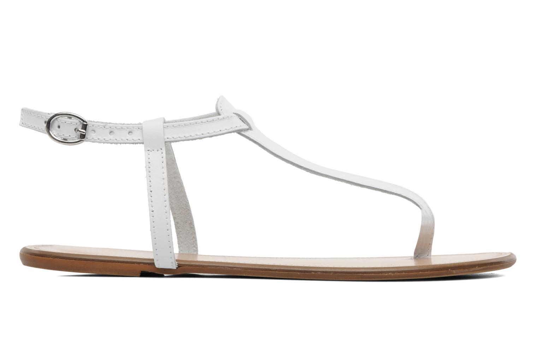 Sandalen Georgia Rose Lufluo cuir weiß ansicht von hinten