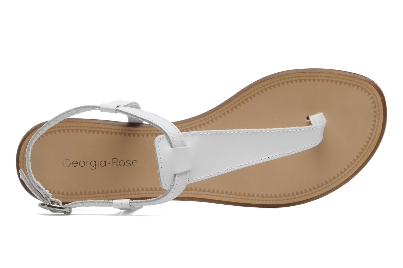 Sandalen Georgia Rose Lufluo cuir weiß ansicht von links