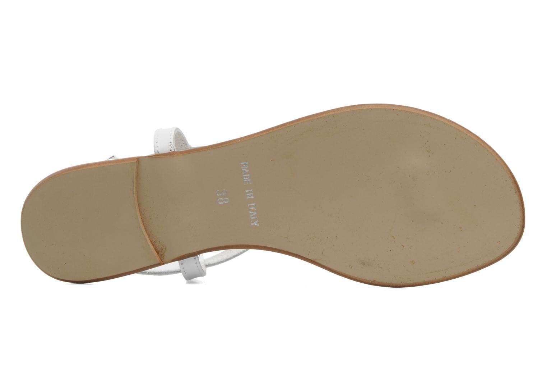 Sandalen Georgia Rose Lufluo cuir weiß ansicht von oben