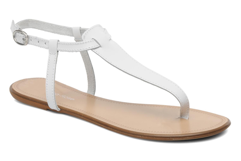 Sandales et nu-pieds Georgia Rose Lufluo cuir Blanc vue détail/paire