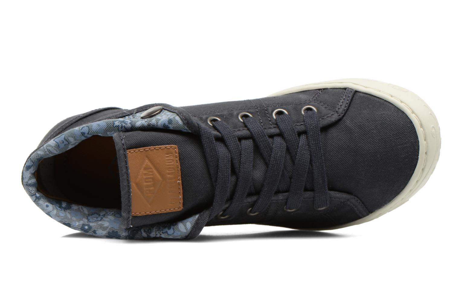 Trainers P-L-D-M By Palladium Gaetane Twl Blue view from the left