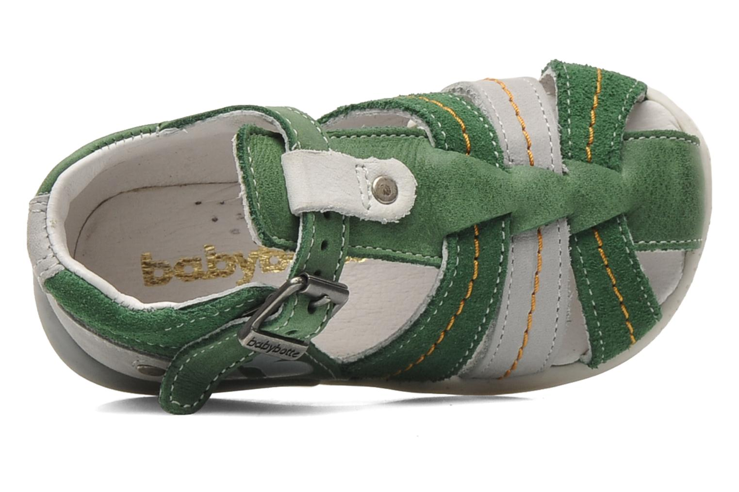 Sandals Babybotte GIOVANI Green view from the left