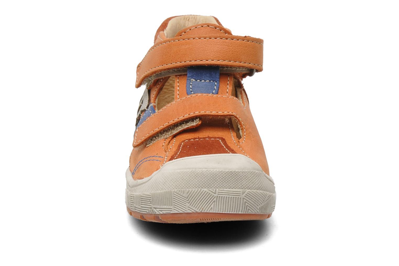 Chaussures à scratch Babybotte SILVIO Orange vue portées chaussures