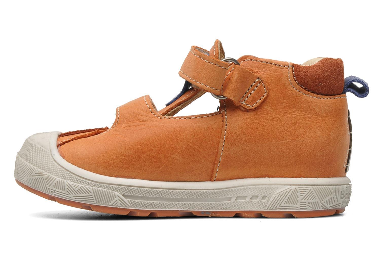 Velcro shoes Babybotte SILVIO Orange front view