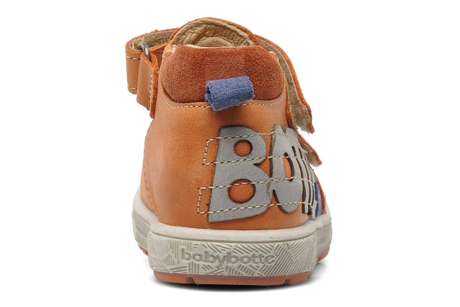 Velcro shoes Babybotte SILVIO Orange view from the right
