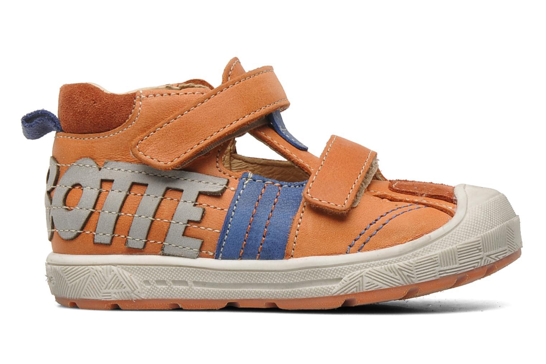 Velcro shoes Babybotte SILVIO Orange back view