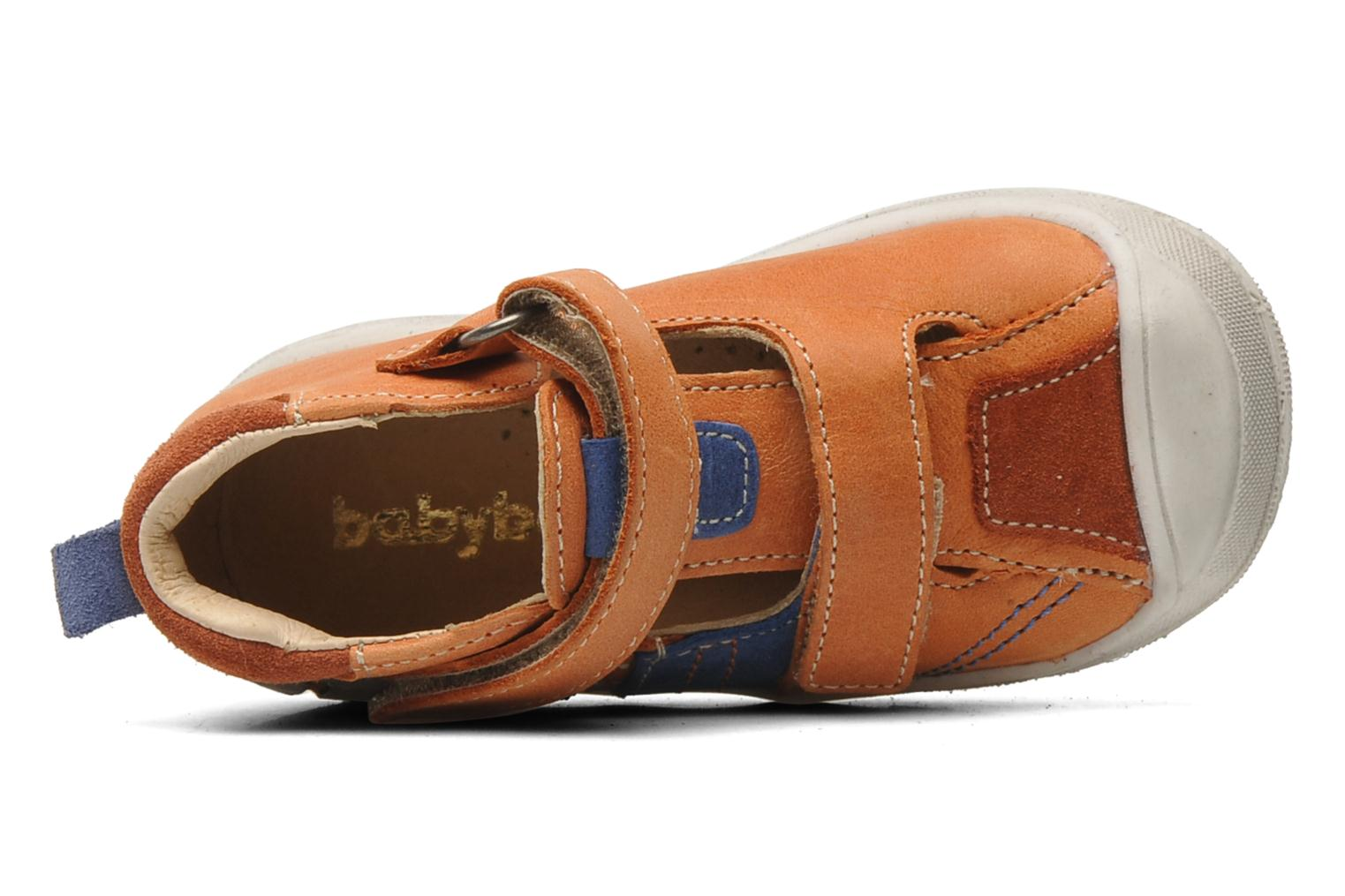 Velcro shoes Babybotte SILVIO Orange view from the left