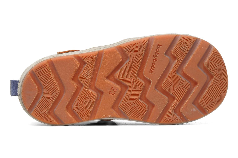 Chaussures à scratch Babybotte SILVIO Orange vue haut