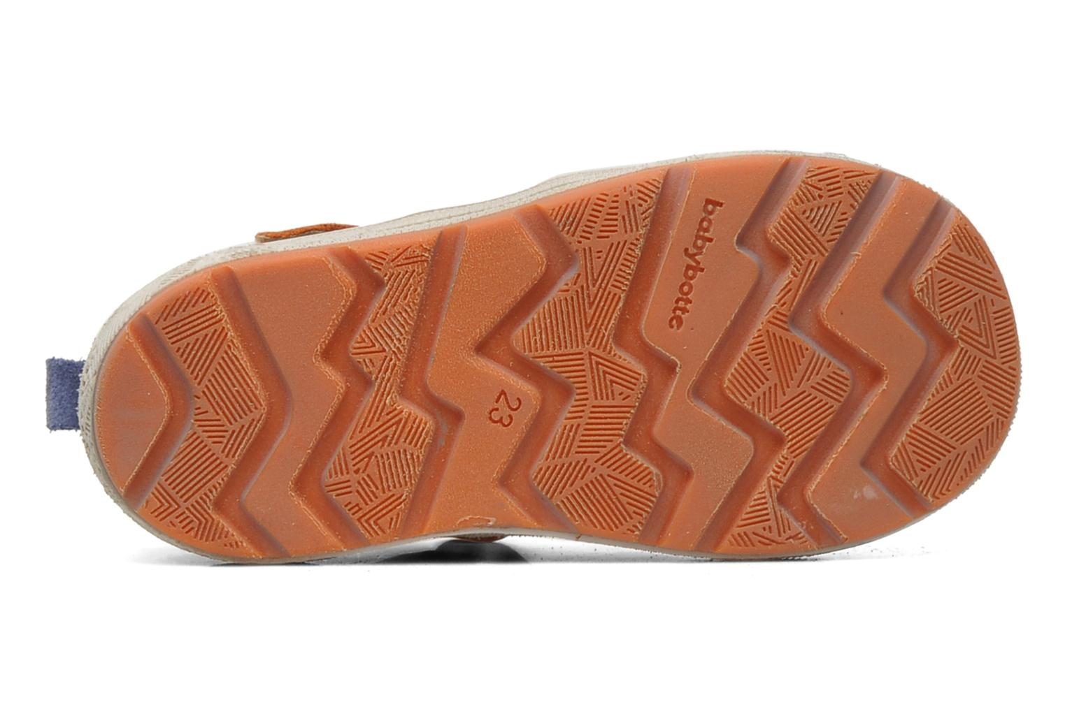 Velcro shoes Babybotte SILVIO Orange view from above