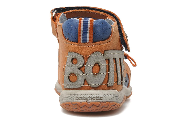Sandalias Babybotte TITOUAN Naranja vista lateral derecha