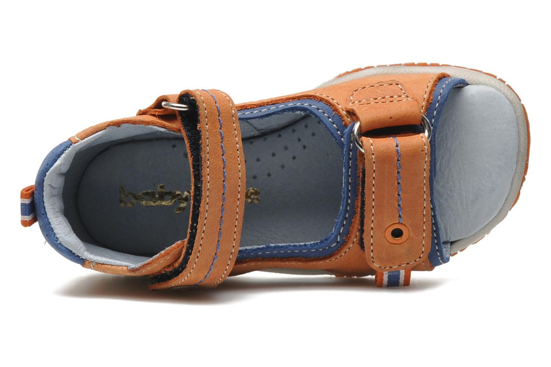 Sandalias Babybotte TITOUAN Naranja vista lateral izquierda