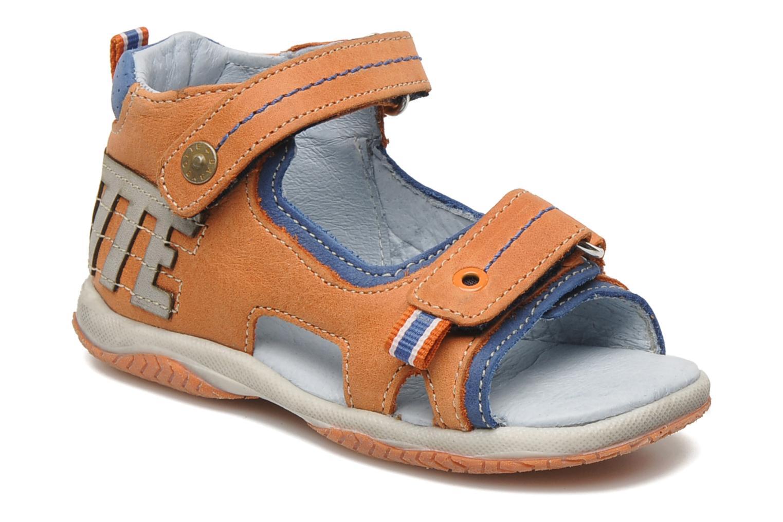 Sandaler Babybotte TITOUAN Orange detaljerad bild på paret