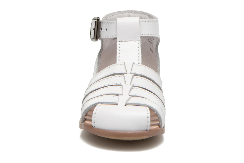 Sandales et nu-pieds Little Mary Jules Blanc vue portées chaussures