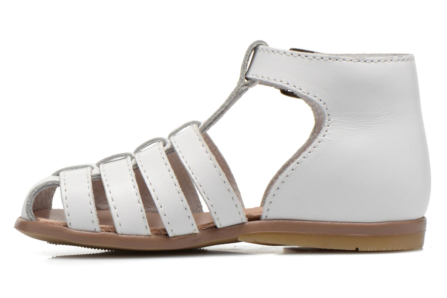 Sandals Little Mary Jules White front view