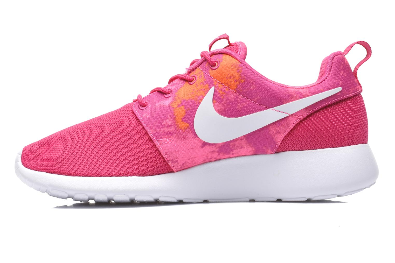 Wmns Nike Rosherun Print Fireberry/Wht-Pnk Pw-Ttl Orng