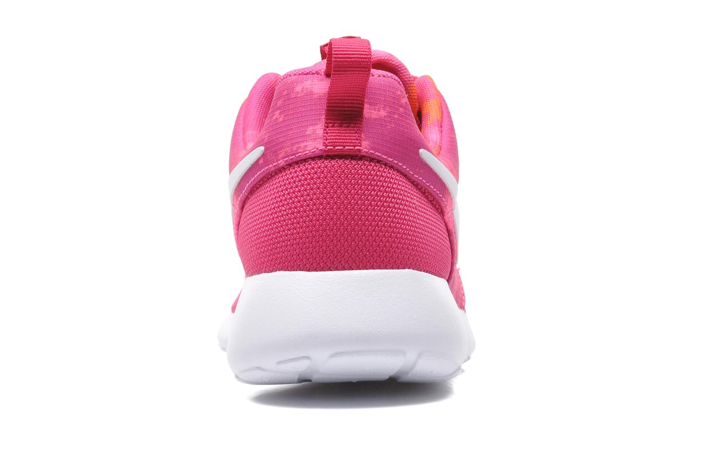 Baskets Nike Wmns Nike Rosherun Print Rose vue droite