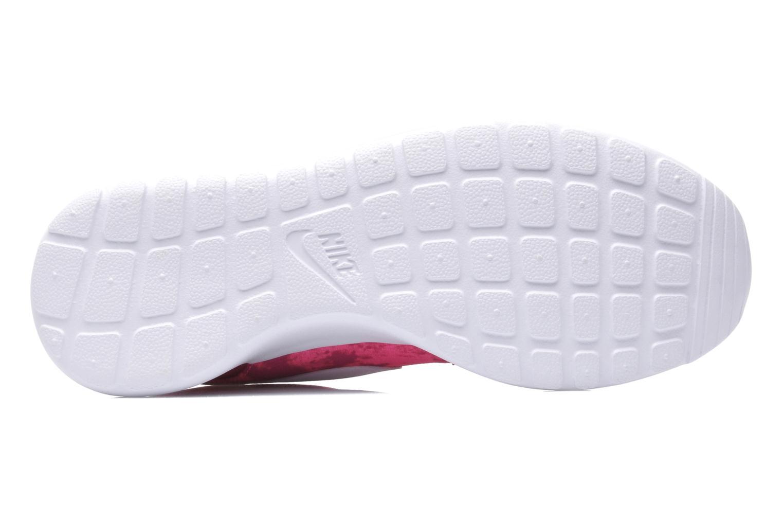 Baskets Nike Wmns Nike Rosherun Print Rose vue haut