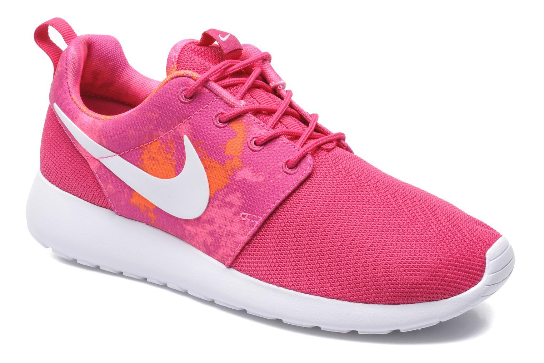Baskets Nike Wmns Nike Rosherun Print Rose vue détail/paire