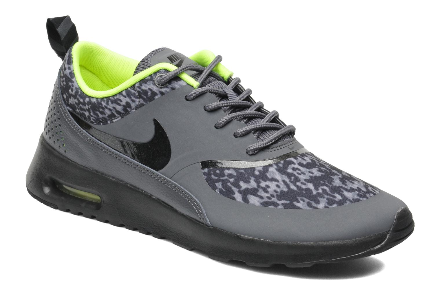 Wmns Nike Air Max Thea Print Dark Grey/Black-Volt
