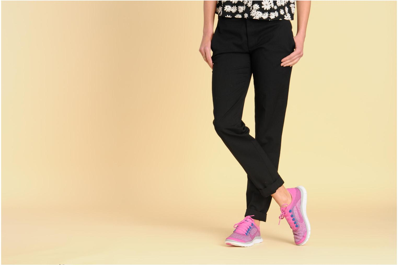 Chaussures de sport Nike Wmns Nike Free 3.0 V5 Ext Noir vue bas / vue portée sac