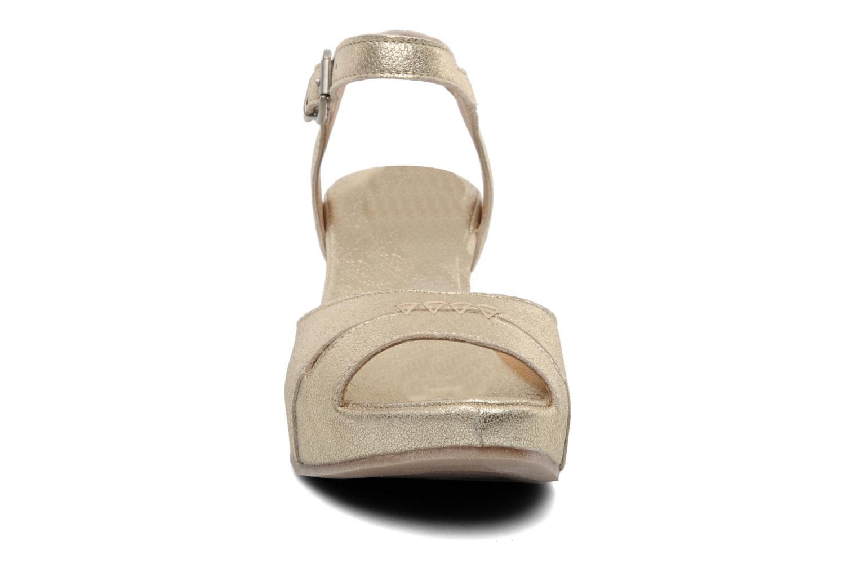 Sandales et nu-pieds Khrio Shika Or et bronze vue portées chaussures
