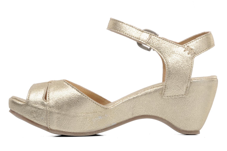 Sandales et nu-pieds Khrio Shika Or et bronze vue face