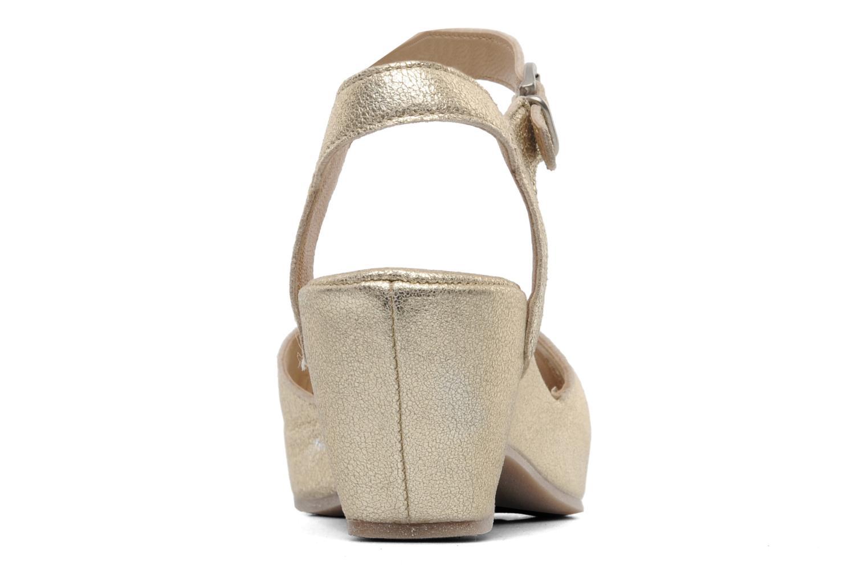 Sandales et nu-pieds Khrio Shika Or et bronze vue droite