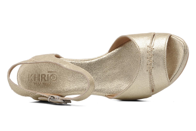 Sandales et nu-pieds Khrio Shika Or et bronze vue gauche