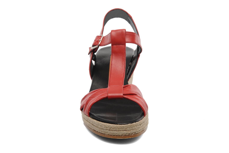 Sandales et nu-pieds Anna Volodia Jemeo Rouge vue portées chaussures