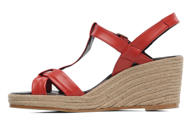 Sandales et nu-pieds Anna Volodia Jemeo Rouge vue face
