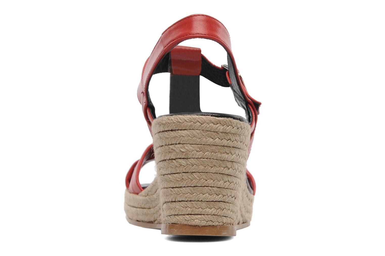 Sandales et nu-pieds Anna Volodia Jemeo Rouge vue droite