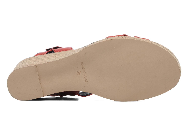 Sandales et nu-pieds Anna Volodia Jemeo Rouge vue haut