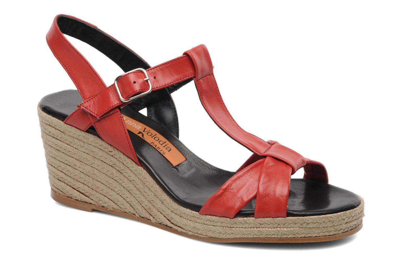 Sandales et nu-pieds Anna Volodia Jemeo Rouge vue détail/paire