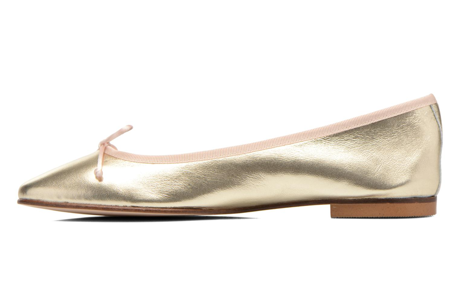 Ballet pumps Anna Volodia Luna Bronze and Gold front view