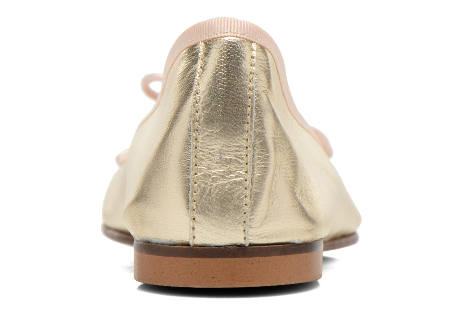 Ballet pumps Anna Volodia Luna Bronze and Gold view from the right
