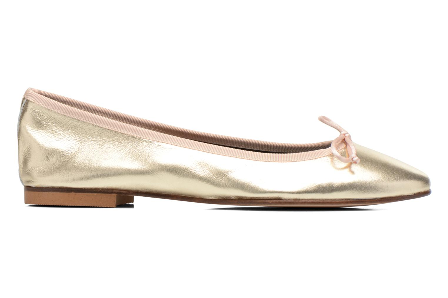 Ballet pumps Anna Volodia Luna Bronze and Gold back view