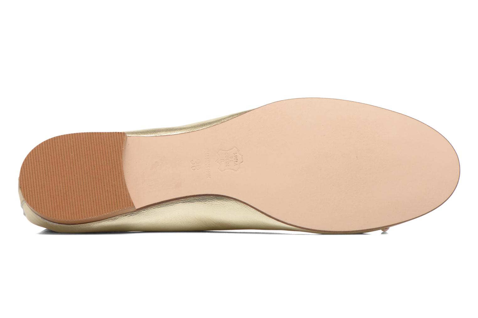Ballet pumps Anna Volodia Luna Bronze and Gold view from above
