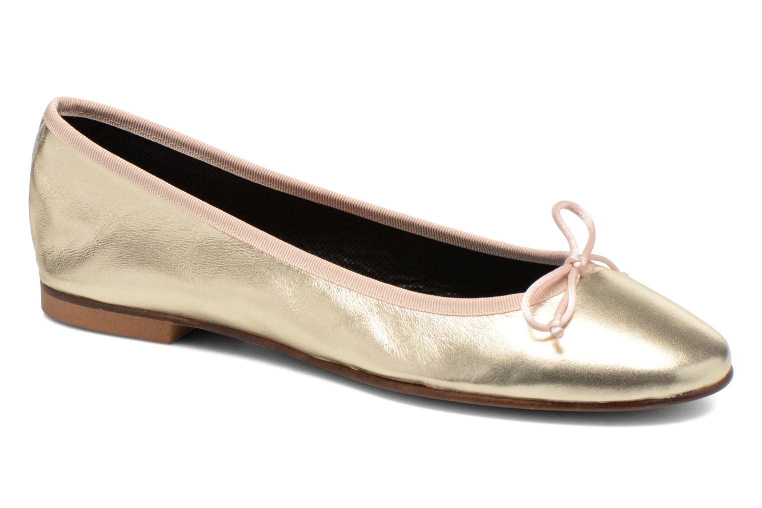 Ballet pumps Anna Volodia Luna Bronze and Gold detailed view/ Pair view