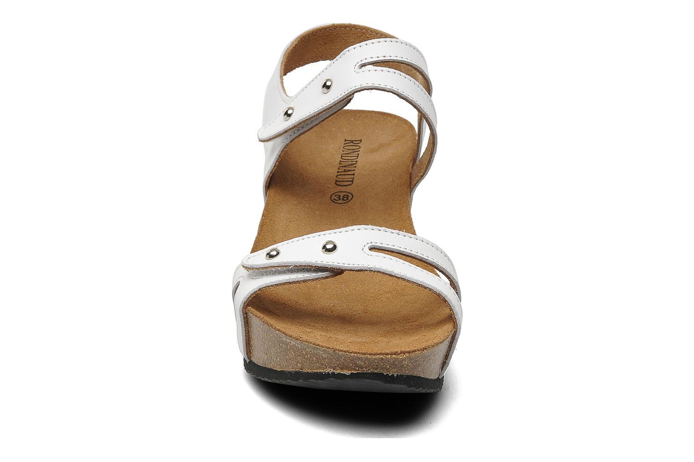Sandales et nu-pieds Rondinaud Falleron Blanc vue portées chaussures