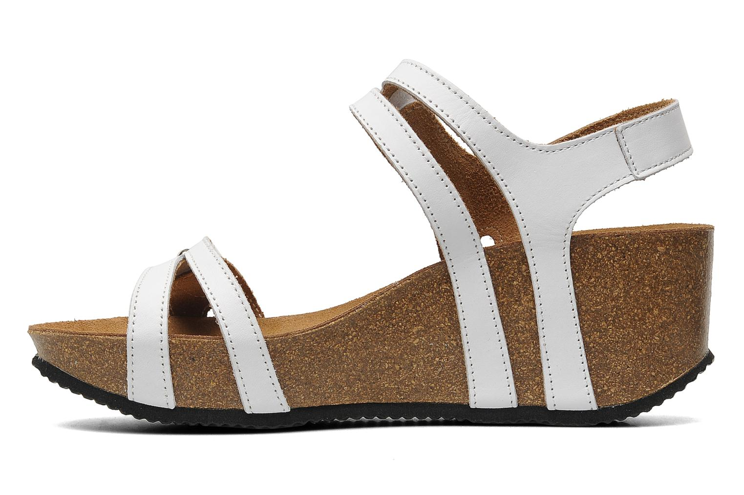 Sandals Rondinaud Falleron White front view